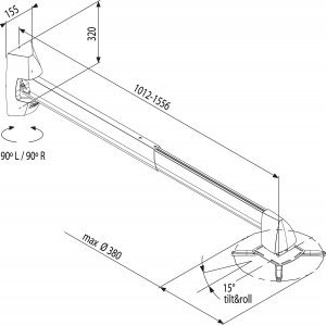 Kronşteinlər Vogel's PPS 801 Short throw projector mount (PPS801)