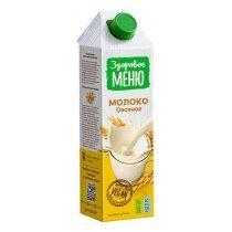 Молоко Здоровое меню овсяное 1л-bakida-almaq-qiymet-baku-kupit