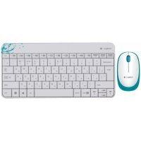 Клавиатура с мышью Logitech Wireless Combo MK240 White