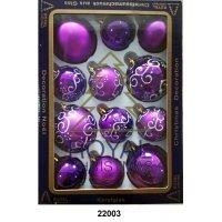 12 Новогодних шаров Royal Christmas - Фиолетовые (22003)