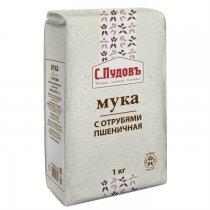 Мука пшеничная с отрубями С.Пудовъ, 1 кг-bakida-almaq-qiymet-baku-kupit