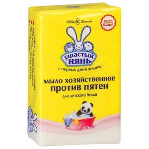 Мыло Ушастый нянь для детского белья, хозяйственное против пятен, 180 г