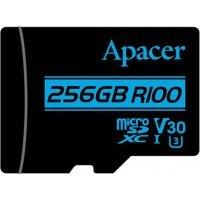 Yaddaş Apacer 256 GB microSDXC/SDHC UHS-I U3 V30 R100 Class 10 + SD adapter (AP256GMCSX10U7-R)