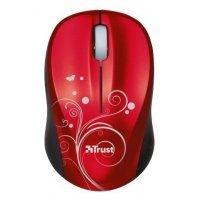 Беспроводная мышь Trust Vivy Wireless Mini Mouse - Red (17355)