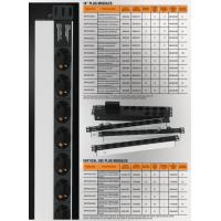 Mirsan 6xIEC 320 C13 Socket Group Plug, 1U  casing, 1x16A fuse protected, DIN  49441 plug (MR.PRZ1U6S.IE)