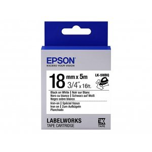 Epson Tape - LK4WBW Strng adh Blk/Wht 12/9 (C53S654016)