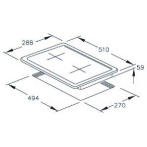 Bişirmə paneli Hotpoint-Ariston DK 20S (IX) /HA (Cеребристый)