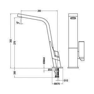 Cмеситель для кухни Teka IC 915 BLACK
