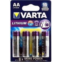 Батарейки VARTA LITHIUM 6106 AA (4)