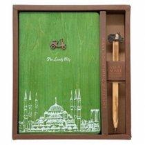 Блокнот с деревянной обложкой-bakida-almaq-qiymet-baku-kupit
