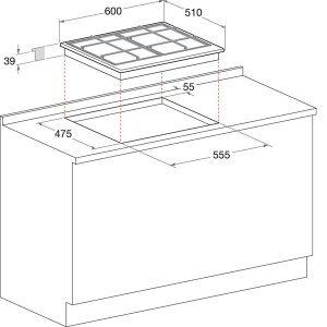 Газовая варочная поверхность Hotpoint-Ariston THC 641 W/IX/HA EE (Silver)