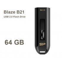 USB флешка Silicon Power UFD 3.0, Blaze B21, 64 GB, Black (SP064GBUF3B21V1K)-bakida-almaq-qiymet-baku-kupit