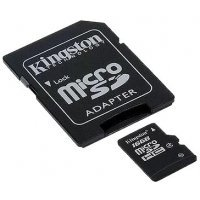 Карта памяти Kingston 16GB microSDHC Class 4 Flash Card (SDC4/16GB)