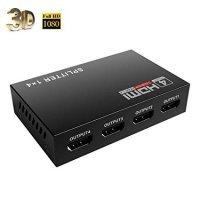 Splitter HDMI Video Splitter 1in-4out port UHD