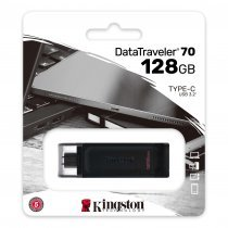USB флешка Kingston 128 GB USB-C DataTraveler 70 (DT70/128GB)