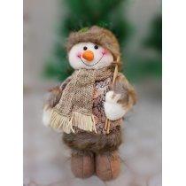 Ёлочная мягкая игрушка Подарок (снеговик 25 см)-bakida-almaq-qiymet-baku-kupit