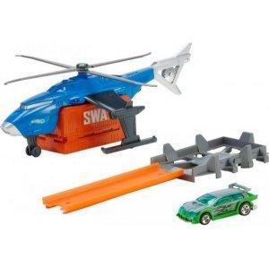 MATTEL Набор игрушек Hot Wheels Super SWAT copter (FDW70)