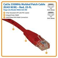 Cable Tripp Lite Cat5e 350MHz Molded Patch Cable RJ45M/M - 25 ft. (7,5m) (N002-025)