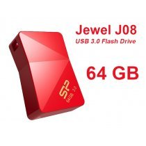 USB флешка Silicon Power UFD 3.0, Jewel J08, 64 GB, Red (SP064GBUF3J08V1R)-bakida-almaq-qiymet-baku-kupit
