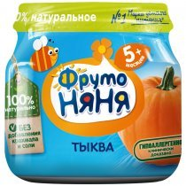 Пюре ФрутоНяня из тыквы для детей с 5 месяцев, 80г-bakida-almaq-qiymet-baku-kupit