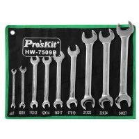 Набор рожковых гаечных ключей ProsKit HW-7509B