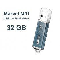USB флешка Silicon Power UFD 3.0, Marvel M01, 32GB, Blue (SP032GBUF3M01V1B)-bakida-almaq-qiymet-baku-kupit