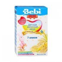 Молочная каша Bebi Premium 7 злаков, 200 г-bakida-almaq-qiymet-baku-kupit