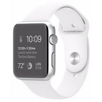 Электронные часы Apple S2 42mm Silver - White Sport (MNPJ2)