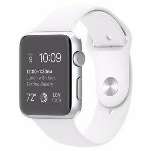 Электронные часы Apple S2 42mm Silver - White Sport (MNPJ2)