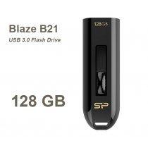 USB флешка Silicon Power UFD 3.0, Blaze B21, 128 GB, Black (SP128GBUF3B21V1K)-bakida-almaq-qiymet-baku-kupit