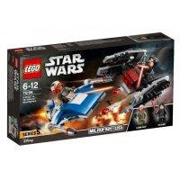 КОНСТРУКТОР LEGO Звездные Войны Истребитель A против бесшумного истребителя (75196)