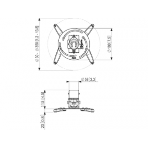 Kronşteinlər Vogel's PROJECTOR CELLING MOUNT PPC1000 (PPC1000)