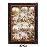 12 Новогодних шаров Royal Christmas - Серебристые (22002)