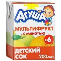 Сок Агуша Мультифруктовый с мякотью для детей с 6 месяцев, 200мл-bakida-almaq-qiymet-baku-kupit