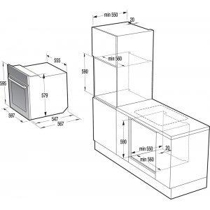 Электрический духовой шкаф Gorenje BO637ORAB (Black)