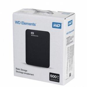 Внешний жёсткий диск WD Elements USB 3,0 500Gb (WDBUZG5000ABK)