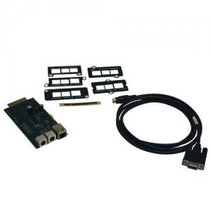 Tripp Lite Internal Universal SNMP/Web management accessory card connects UPS to Ethernet (SNMPWEBCARD)