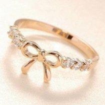 18К позолоченное кольцо