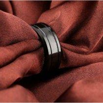 OPK Вольфрамовое мужское черное кольцо-bakida-almaq-qiymet-baku-kupit