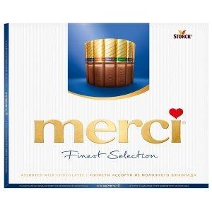 Шоколадный набор Merci Ассорти 4 вида шоколада 250г
