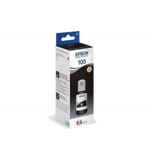 Чернила Epson 105 EcoTank BK Ink Bottle /Black  (C13T00Q140)