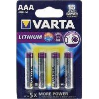 Батарейки VARTA LITHIUM 6103 AAA (4)