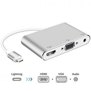 Конвертер Lighting to HDMI, VGA, Audio