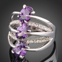 18К белое золото кольцо