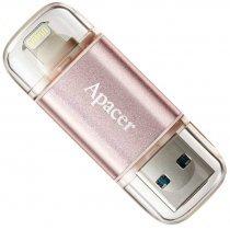 Flesh yaddaş USB Apacer 64 GB  USB 3.1 Gen1 Lightning AH190 / Rose Gold (IOS & Mac) (AP64GAH190H-1)-bakida-almaq-qiymet-baku-kupit