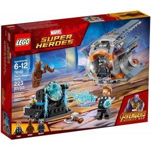 КОНСТРУКТОР Super Heroes В поисках оружия Тора (76102)