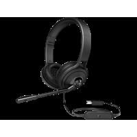 Гарнитура с микрофоном HP USB 500 Headset Black (1NC57AA)