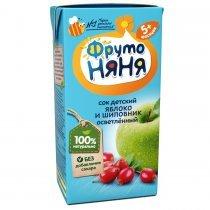 Сок ФрутоНяня из яблок и шиповника для детей с 5 месяцев, 0,2л-bakida-almaq-qiymet-baku-kupit