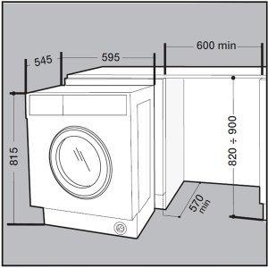 Встраиваемая cтиральная машина Hotpoint-Ariston BI WMIL 71252 / 7 кг (White)