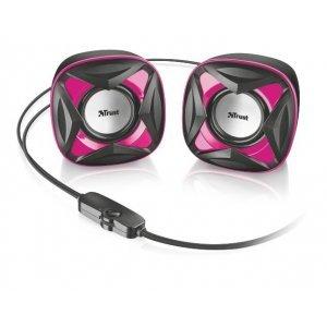 Kompüter akustikası Trust Xilo Compact 2.0 Speaker Set - pink (21181)